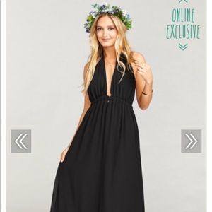 Show me your mumu Luna Halter Dress Black